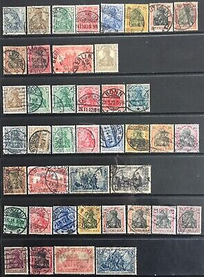Germany 1899-1905 Germania issues Mostly Used