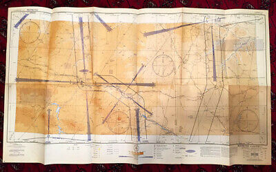 Vintage Aeronatical Chart For Radiodirection Finding Antiques