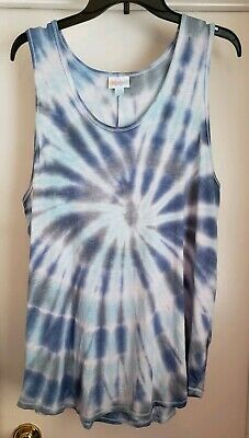 af41d334dd27b Custom Tie Dye LuLaRoe Tank Top 2XL Multicolor Spiral    ONE OF A KIND