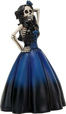 Dod  Day Of The Dead -  Blue Dress Lady Figurine - New  Los Dias De Muertos