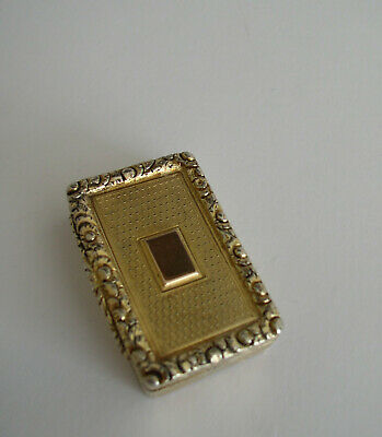 Antique Solid Silver Gilded Vinaigrette (Grille Missing) By Cr & Ws London 1833