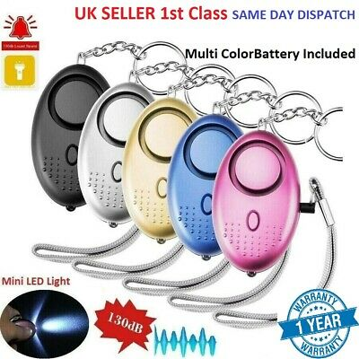 Keyring Personal Panic Rape Attack Safety Police Approved Security Alarm & LED