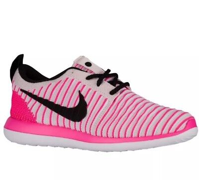 68ae55870f6a NIKE Roshe Two 2 Flyknit 844620 600 Girls Youth Running Shoes Size  6.5Y Women