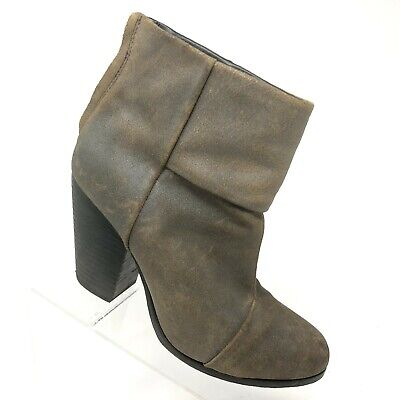 29fca9e03cc5 RAG   BONE Newbury Bootie Distressed Brown Leather Ankle Boot Womens SIZE 39    9