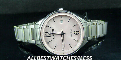 Citizen FE6100-59X CHANDLER Eco-Drive Pink Dial Silver Tone Band Watch $275