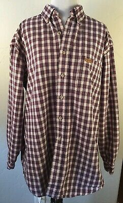 fbb2ba3720 Carhartt Plaid Work Shirt XL OR XXL Red Blue Long Sleeve Button Front Men s  USED