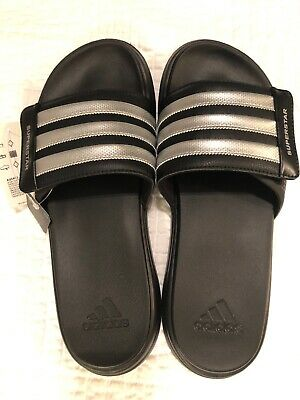 41ea69f1fc6ba NWT ADIDAS Superstar 4G Men s Size 12 (US) Black Slide Athletic Sandals