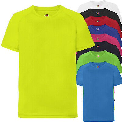 T-Shirt Manica Corta Bambino Maglia Sportiva FRUIT OF THE LOOM Performance Kids