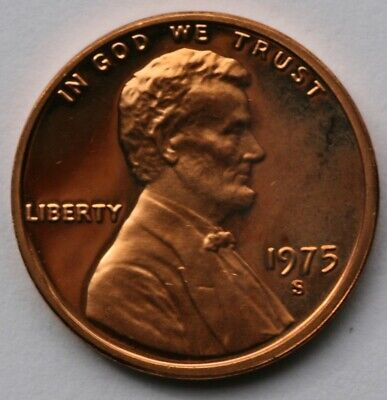 1975 S Lincoln Memorial Cent Gem DCAM Proof Penny  US Coin