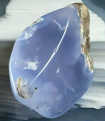 MOUNT AIRY BLUE AGATE NEVADA LAVENDER CHALCEDONY GEM 31mm 10.6g Reiki Crystal