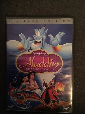 Aladdin Platinum Edition 2 Disc DVD. Pre-owned. Good Condition