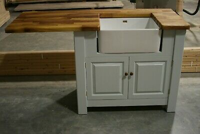 Freestanding  Small Sink Unit with overhang for appliance