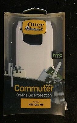 New Otterbox Commuter Series White Gray 77-51142 Case for HTC One M9