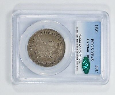 XF45 1831 CAC Capped Bust Half Dollar - Overton 109 - PCGS Graded *5285