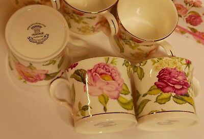 Palace Fine Bone China Tea Coffee Cup Stoke-On-Trent England set 4 Melanie Rose