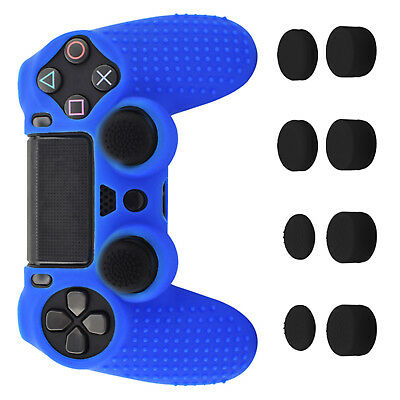 For PS4 PRO Controller DualShock 4 Anti-slip Silicone Cover Protector Blue