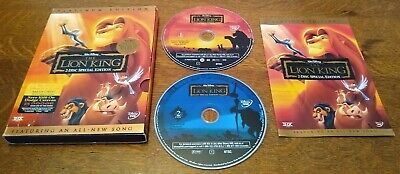 THE LION KING Platinum 2-Disc Special Edition DVD TESTED Slipcover Disney Family