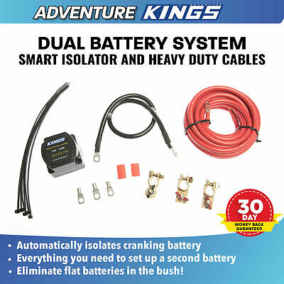 KINGS Dual Battery System 12V Smart Isolator Cable Crimp Lag Kit 4WD Battery