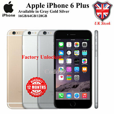 NEW UK Apple iPhone 6 Plus Smartphone 16/64/128GB in Gold/Silver/Grey- Unlocked