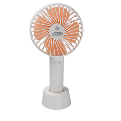 Rechargeable Handheld Mini Fan, 3-speed Desktop Cooler, Portable with Stand Base