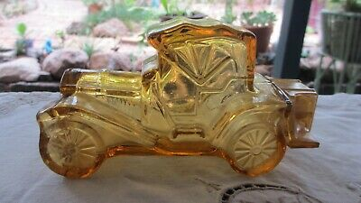 Vintage Glass Avon Car Aftershave Bottle complete with Boot Cover