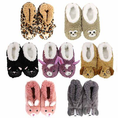 Slumbies Furry Foot Pals Non-Slip Grip Soles Soft Slippers Socks **FREE DELIVERY