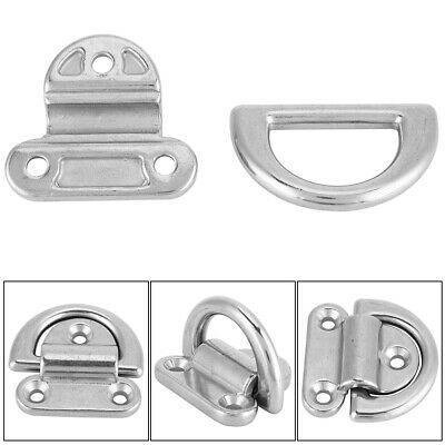 Stainless Steel Boat Folding Pad Eye Lashing D Ring Tie Down Cleat High quality