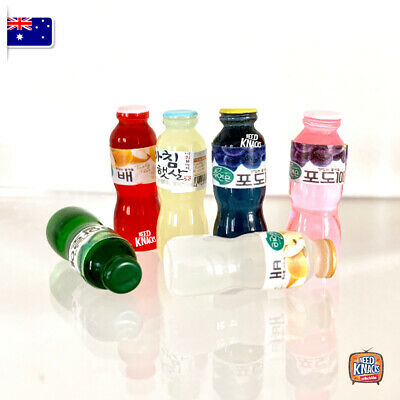 Mini Collectables - Juice Bottles Set of 6 - Add to Coles Little Shop Collection