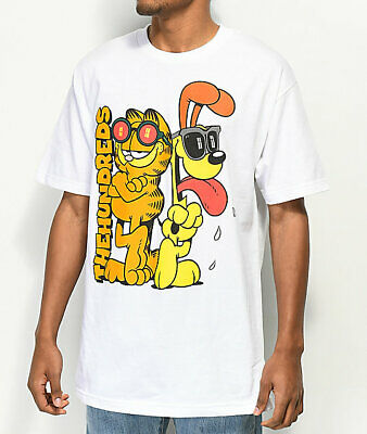 58aa5ec0 NEW The Hundreds x Garfield Limited Edition Glasses Odie T Shirt Mens White
