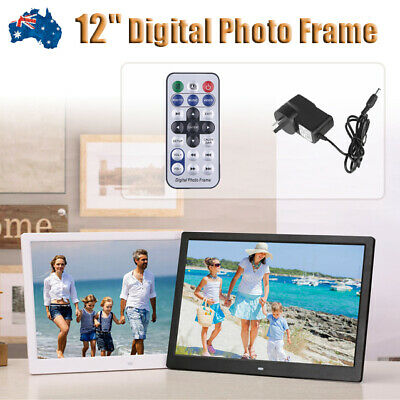 12'' LCD HD Electronic Digital Photo Frame Picture MP4 Player Birthday Gift 2019