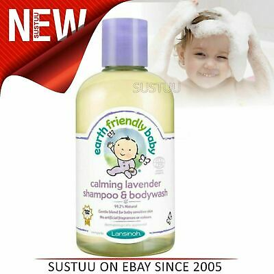 Earth Friendly Baby│Organic Soothing Shampoo & Bodywash│Lavender│250ml│+0months