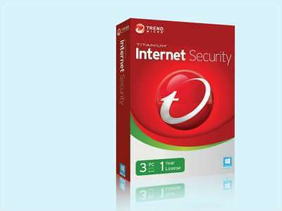 Trend Micro Internet Security 2018-2019 - 3 Devices 1 Year - Windows & Mac