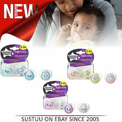 Tommee Tippee Closer to Nature Night Time Soother Baby Orthodontic Pacifier 2PK