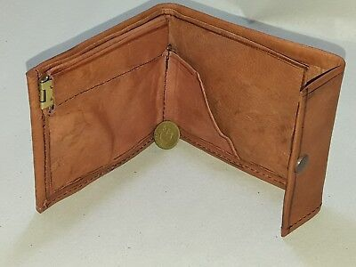 antique unique leather Purse wallet by artisan from Marrakesh Morocco