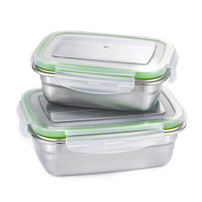 Fresh Keeping Food Fruit Mess Tin PP Lid Stainless Steel Well Sealing Portable