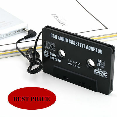 Audio Cassette Tape Adapter Aux Cable Cord 3.5mm Jack fr to MP3 iPod CD Player B