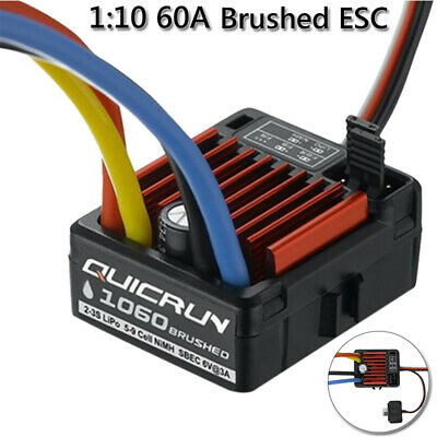 HobbyWing QuicRun 1:10 Waterproof Brushed 60A ESC 4WD RC Car Buggy Fwd/Rev/Br