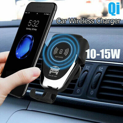 Qi Wireless Fast Charger Car Holder Gravity Mount For iPhone iPhone 8 + Note 9