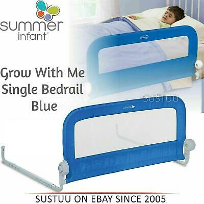 Summer Infant Grow With Me Single Bedrail¦Baby Kid's Bed Safety Guard Rail¦Blue
