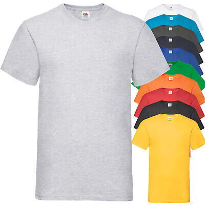 T-Shirt Da Lavoro Uomo Maglietta Cotone Scollo V FRUIT OF THE LOOM Valueweight