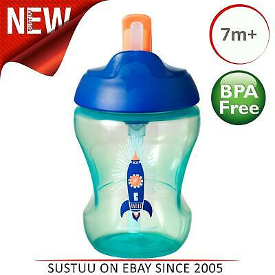 Tommee Tippee Training 230ml Soft Straw Cup 7m+¦Non-Spill¦Assorted Colours¦New