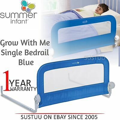 Summer Infant Grow With Me Single Bedrail│Baby Kid's Bed Safety Guard Rail│Blue