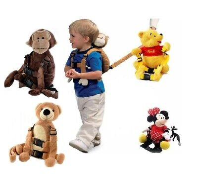 Kid Toddler Safety Walking Harness Anti-lost Strap Wrist Leash Plush Backpack