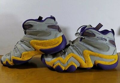 new arrivals 9004a 65a15 Adidas Mens basketball shoes Crazy 8 Size 9 preowned Purple Yellow Kobe  Bryant