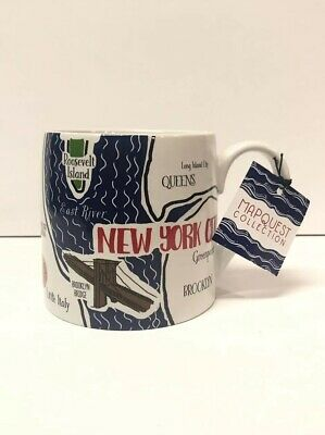 New York City NYC Mug Coffee Tea Cup XL Size Souvenir By Mapquest Collection