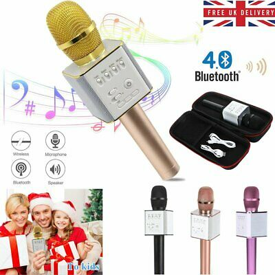 UK Handheld Wireless Bluetooth Microphone KTV Karaoke Microphone With Speaker