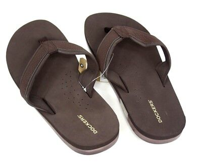 f40d4f3e5f6e DOCKERS MEN S FLIP Flops Brown Size L 10 11 New with Tags -  14.78 ...