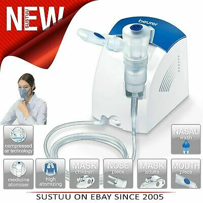 Beurer IH25 Compressed Air Nebulizer│Colds/Asthma│Upper-Lower Respiratory Tract│