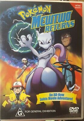 Pokemon Mewtwo Returns Rare Dvd Johto Movie Adventure Animation Japanese Cartoon
