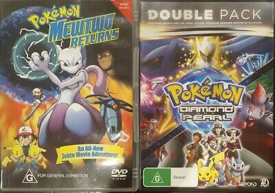 Pokemon Diamond Pearl & Mewtwo Returns Rare Dvd Johto Animation Japanese Cartoon